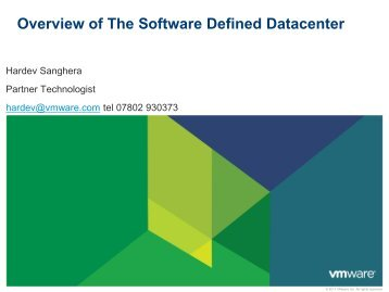 Overview of The Software Defined Datacenter - Equanet