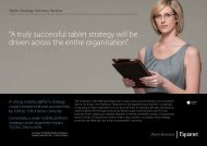 """""""A truly successful tablet strategy will be driven across the ... - Equanet"""