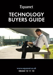 Technology Buyers Guide Part 1 - Equanet