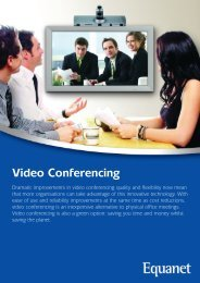 Video Conferencing - Equanet
