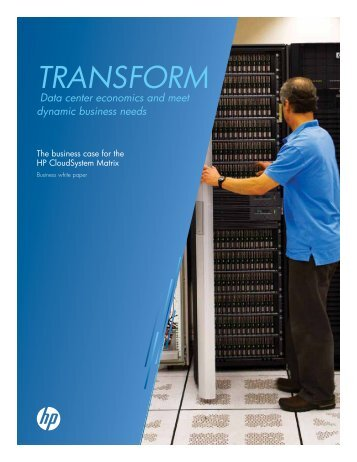 The business case for the HP CloudSystem Matrix ... - Insight