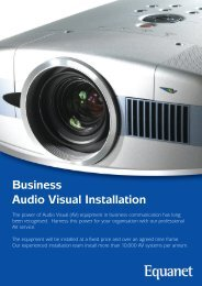 Business Audio Visual Installation - Equanet