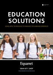 Education Solutions from Apple - Equanet