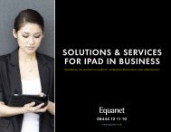 SOLUTIONS & SERVICES FOR IPAD IN BUSINESS - Equanet