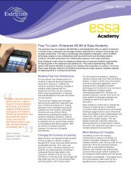Free To Learn: Enterprise WLAN at Essa Academy - Equanet