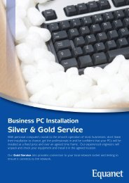 Business PC Installation Silver & Gold Service - Equanet