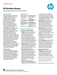 HP StoreOnce Backup: With HP StoreOnce Catalyst ... - Equanet