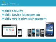 Mobile Security Mobile Device Management Mobile ... - Equanet