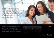 61% of IT Managers confirmed that improved security ... - Equanet