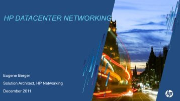 HP DATACENTER NETWORKING - Equanet