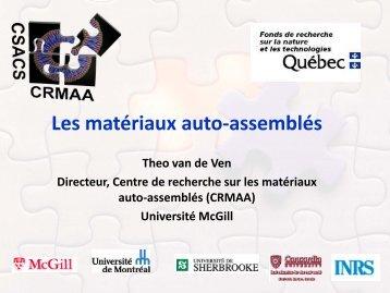 Centre de recherche sur les matériaux auto-assemblés (CRMAA)