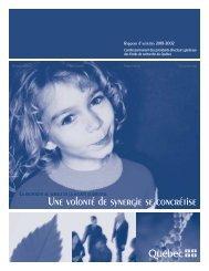 Rapport d'activité - Fonds québécois de la recherche sur la nature et ...