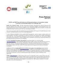 Press Release - Fonds québécois de la recherche sur la nature et ...