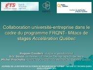Collaboration université-entreprise dans le cadre du programme ...