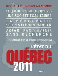 L'état du Québec 2011 - Fonds québécois de la recherche sur la ...