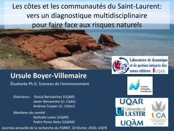 Les côtes et les communautés du Saint-Laurent: vers un ...