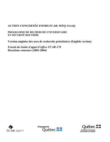 action concertée - Fonds québécois de la recherche sur la nature et ...