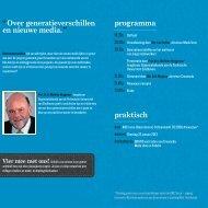 """""""Over generatieverschillen en nieuwe media. """" programma ... - Helbig"""