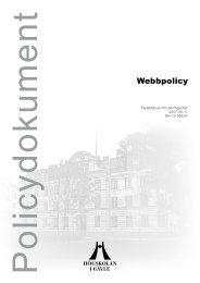 Webbpolicy - Högskolan i Gävle