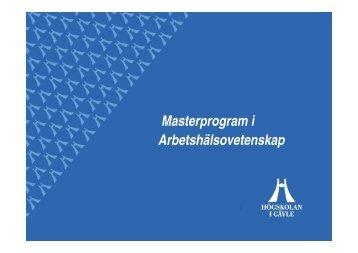 Master AHV NITUS 2012 Mats