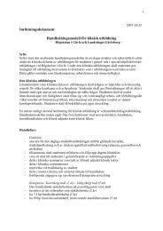 Inriktningsdokument Handledningsmodell för klinisk utbildning