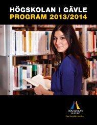 Programkatalog_2013-2014 - Högskolan i Gävle