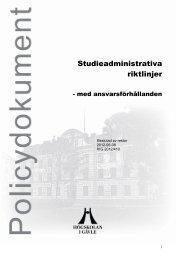 Studieadministrativa riktlinjer - Högskolan i Gävle