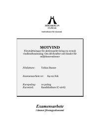 Motvind - Högskolan i Gävle