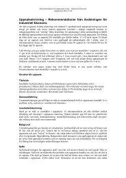 Rekommendationer från Avdelningen för Industriell Ekonomi.