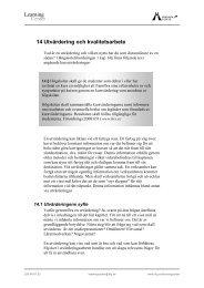 14 Utvärdering och kvalitetsarbete - Högskolan i Gävle