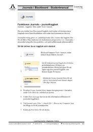 journal/loggbok - Högskolan i Gävle