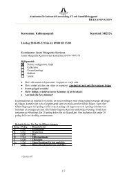 Kursnamn: Kulturgeografi Kurskod: SB252A Lördag 2010-05-22 från ...