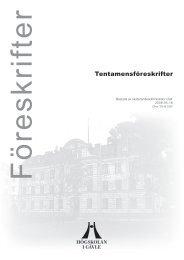Tentamensföreskrifter - Högskolan i Gävle
