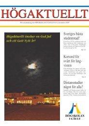 Sveriges bästa studentstad! - Högskolan i Gävle