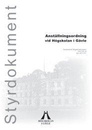 Anställningsordning vid HiG - Högskolan i Gävle