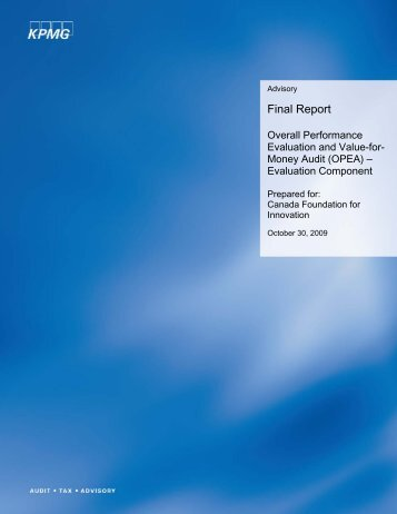 Download overall performance evaluation report - Canada ...