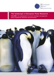The landscape of European Polar Research - European Science ...