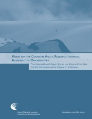 Vision for the Canadian Arctic Research Initiative - Canada ...