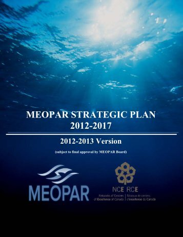MEOPAR Strategic Plan OCFP - Canada Foundation for Innovation