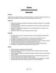 Selection Criteria - Canada Foundation for Innovation