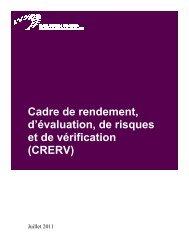 Cadre de rendement, d'évaluation, de risques et de vérification ...