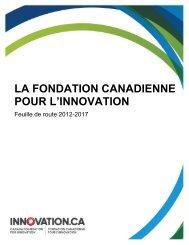 offrir une voix stratégique - Canada Foundation for Innovation