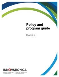 Policy and program guide - Canada Foundation for Innovation