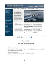 NOAA Arctic Report Card 2012 - Canada Foundation for Innovation