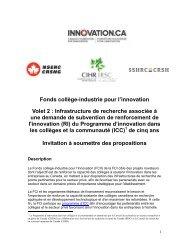 Invitation à soumettre des propositions - Canada Foundation for ...