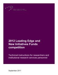 Technical instructions for researchers and institutional - Canada ...