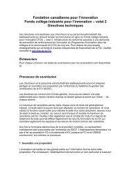 Volet 2 : Directives - Canada Foundation for Innovation
