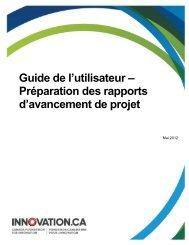 Préparation des rapports d'avancement de projet - Canada ...