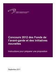 Instructions pour préparer une proposition - Canada Foundation for ...