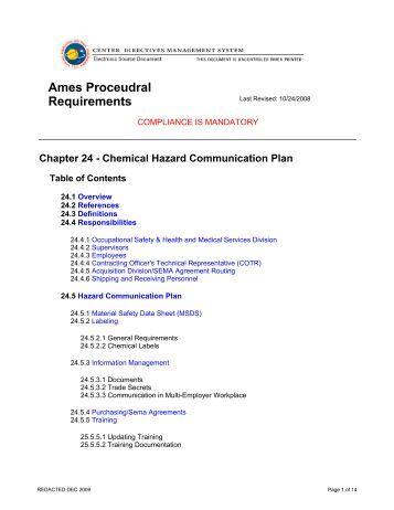 Initiator's Acquisition Checklist - NASA